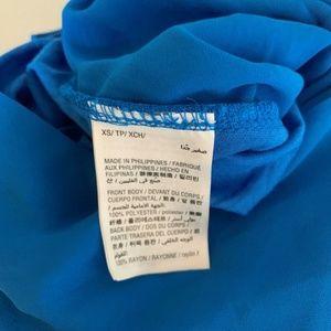 Bar III Tops - Bar III Blouse Top Draped Faux Wrap Blue Sz XS